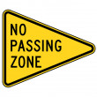 No passing zone sign — Photo