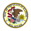 Illinois state seal — Stock Photo