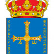 Spanish Asturias coat of arms — Foto Stock