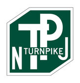New Jersey Turnpike sign — Stock Photo