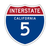 California Interstate Highway sign — Stock Photo