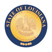 Louisiana state seal — Stock Photo