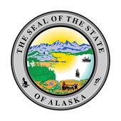 Alaska state seal — Stock Photo