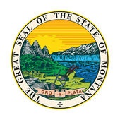 Montana state seal — Stock Photo