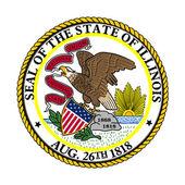 Sello del estado de illinois — Foto de Stock