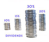 Dividend growth. — Stock Photo