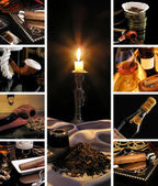 Alcoholic beverages, cigars and tobacco — Stock Photo