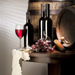 图库照片: Still life with red wine