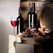 Stock Photo: Still life with red wine