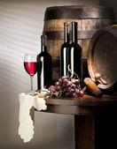 Zátiší s červeným vínem — Stock fotografie