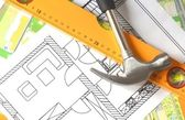 Architectural drawing — Stock Photo