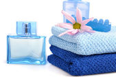 Blue toiletries — Stock Photo