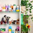 Bathroom shelf — Stockfoto