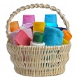 Toiletries in backet — Stock Photo #5620521