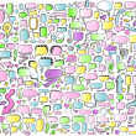 Notebook Doodle Color Speech Bubble Arrow Vector Illustration Set — Stock Vector #5994873