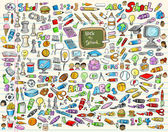 Nauka szkoła wektor zestaw ilustracji — Wektor stockowy