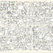 Royalty-Free Stock : Notebook Doodle Sketch Design Elements Mega Vector Illustration Set