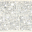 Notebook Doodle Sketch Design Elements Mega Vector Illustration Set - Stock Vector