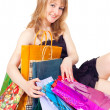 Stock Photo: Girl with shopping
