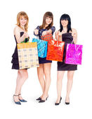 Ragazze con lo shopping — Foto Stock