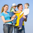 A family with two children — Stock Photo