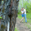 Couple in the woods — Stock Photo #5896942