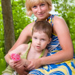 Young mother with her son — Stock Photo #5910197