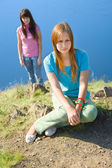 Two girls in brawl — Stock Photo