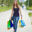Stock Photo: Womwith shopping