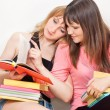 Girls reading books - Stock Photo
