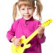 Stock Photo: A girl with a guitar