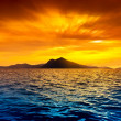 Scenic view of island during sunset — Stock Photo