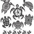 Decorative turtles — Vettoriale Stock #5641534