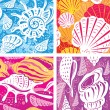 Seamless shell pattern — Image vectorielle
