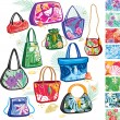 Summer bags with patterns — 图库矢量图片