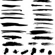 Grunge brush strokes - Stock Vector