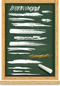 Brush strokes of chalk — Stockvektor