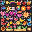 Set of cheerful sticker — Stock Vector #6705145