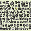 Royalty-Free Stock Vector Image: Big set of monsters and robots faces #2.