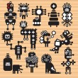 Royalty-Free Stock Vector Image: Monsters and robots collection #17.