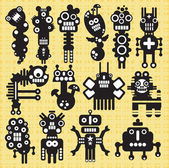 Monsters and robots collection #19. — Stock Vector