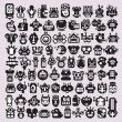 Big set of icons with monsters and robots faces #3. - Stock Vector
