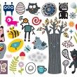 Royalty-Free Stock Vector Image: Mix of different vector images and icons. vol.12