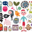 Royalty-Free Stock Vector Image: Mix of different vector images and icons. vol.13