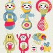 Royalty-Free Stock Vector Image: Set of cute and funny monsters.