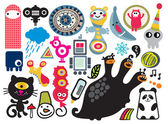 Mix of different vector images and icons. vol.17 — Stock Vector