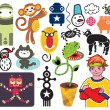 Mix of different vector images and icons. vol.19 — Stock Vector