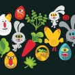 Easter characters for your design. — Stock Vector