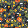 Royalty-Free Stock Vector Image: Seamless Halloween background with monsters.
