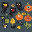Royalty-Free Stock Imagem Vetorial: Set of cute monsters for Halloween.